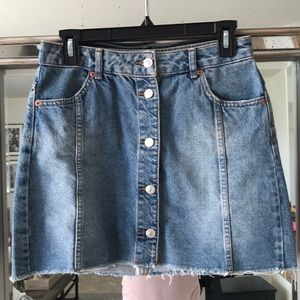 Denim skirt from Topshop